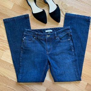 WHBM Classic Rise Boot Leg Jeans 4s Dark Wash C9